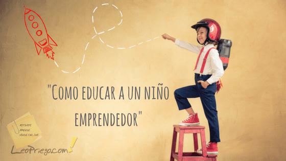 niño emprendedor